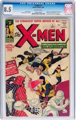 X-men #1 Cgc 8.5 Ow Pages