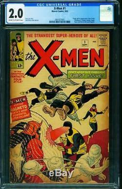 X-MEN #1 cgc 2.0-First issue-Marvel Key comic book 2061027001
