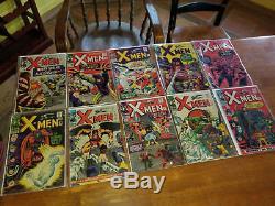 X MEN 1960s SILVER AGE 47 BOOK LOT Giant Sized 1, xmen 2,3,5,6,8,10,11,12,13,14+