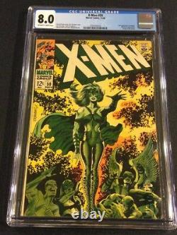 X-MEN #50 Comic Book CGC 8.0 Marvel 1968 POLARIS Origin of BEAST Jim Steranko
