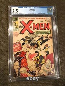 X-Men #1 (1963) CGC 2.5 1st Edition Uncanny XMen Comic MARVEL Original