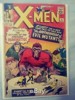 X-Men # 1, 4 & 40 plus lot First Appearances Lee Kirby Steranko Adams