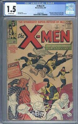 X-Men #1 CGC 1.5 Nice Looking Book Original 1963 1st App of Magneto and X-Men