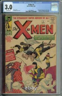 X-Men #1 CGC 3.0 1st App Prof X Cyclops Iceman Angel Beast Magneto Jean Grey
