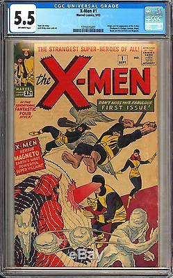X-Men #1 CGC 5.5 Beautiful Mid Grade Unrestored 1st App of X-Men Original 1963