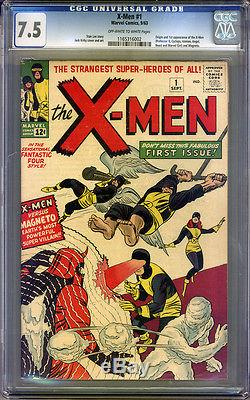 X-Men #1 CGC 7.5 VF- Universal CGC #1165316002