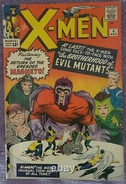 X-Men 4 Silver Age 6.5 Wow Unbelievable Issue
