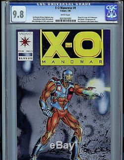 X-O Manowar #1 CGC 9.8 NM/MT Comic Book 1992 Valiant Comics Amricons V2/kb21