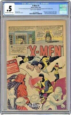 X-men 1 1963 0.5 Cgc Unrestored Cgc Off White To White Pages Hot Book