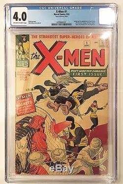 X-men (1963) #1 CGC 4.0 1st app and origin Professor X, Magneto, Gorgeous, NR